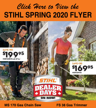 Stihl Spring 2020 Dealer Days Special Offers, Windsor, Harrow
