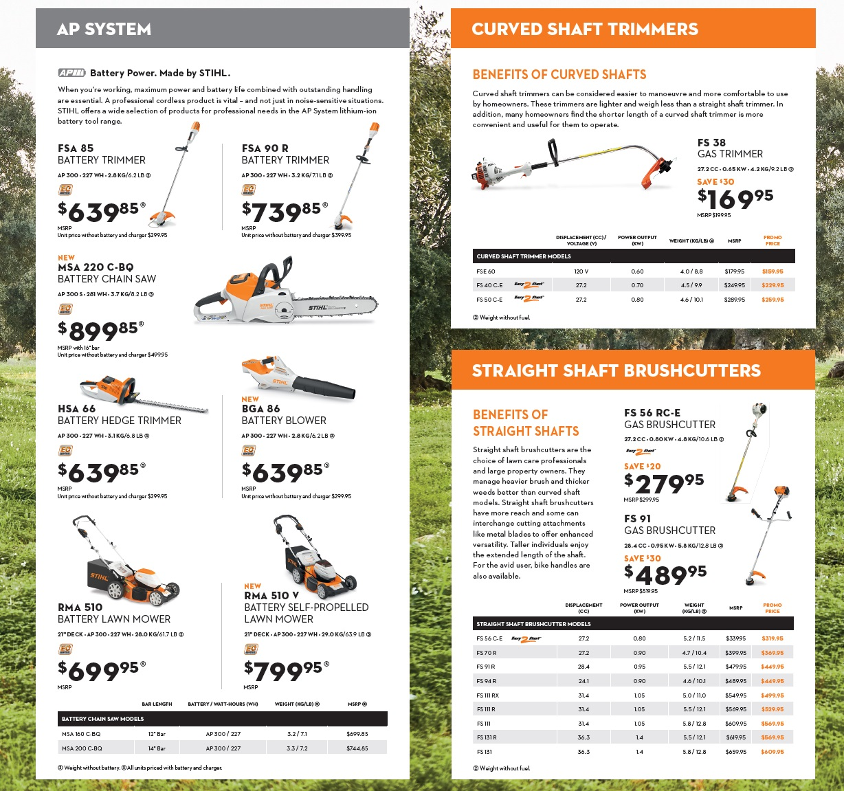 Stihl Trimmers and Brushcutters, Harrow, On